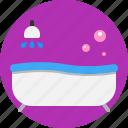 bath, clean, fresh, house, interior, tub icon