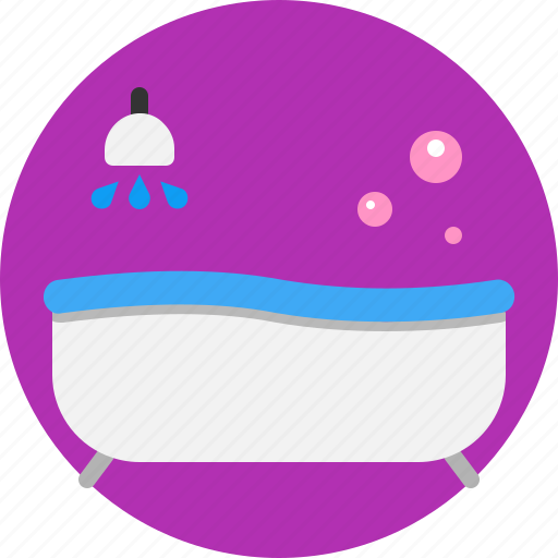 bath, clean, fresh, house, interior, tub icon