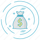 dollar, money, payment icon