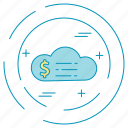 cloud, dollar, money, payment icon