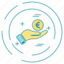dollar, euro, money, payment icon