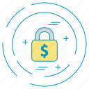 dollar, lock, money, payment icon