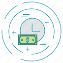 dollar, money, note, payment icon