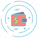 dollar, money, payment, wallet icon