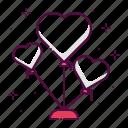 balloon, decoration, hearts, party, wedding