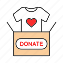 charity, clothes, clothing, donate, donation, donation box, volunteering icon