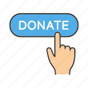 charity, click, donate, donation, fundraising, money, online icon