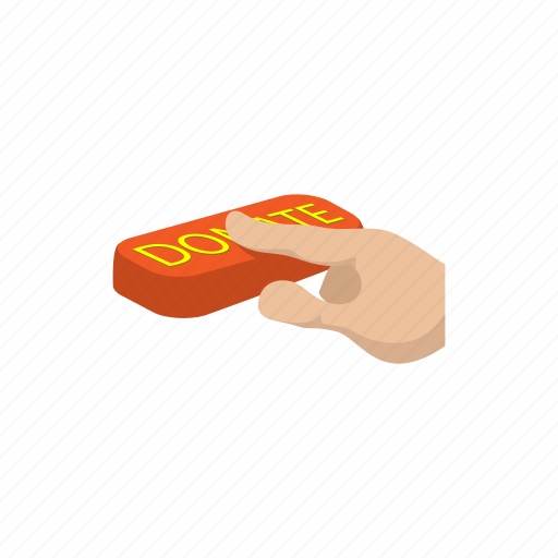 bank, cartoon, charity, donation, hand, market, payment icon