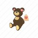 bear, cartoon, charity, donate, donation, teddy, toy icon