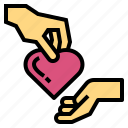 donation, help, give, heart, hand