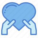 heart, love, donation, hand, give