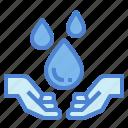 water, solidarity, hands, donation, help