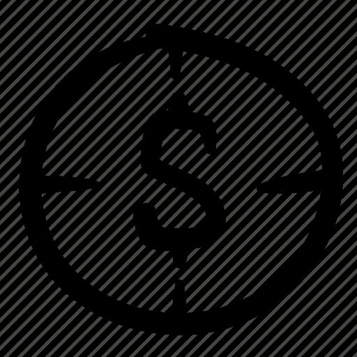 business, doodle, finance, financial target, focus, money, target icon