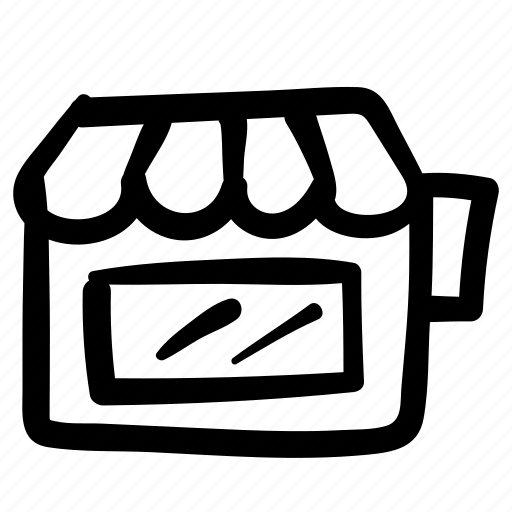 business, commerce, doodle, retail, shop, store icon