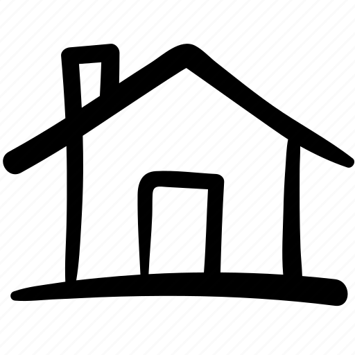 building, doodle, finance, home, house, property, shop icon