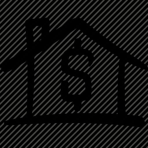 doodle, finance, house, money, refinancing home, shop icon