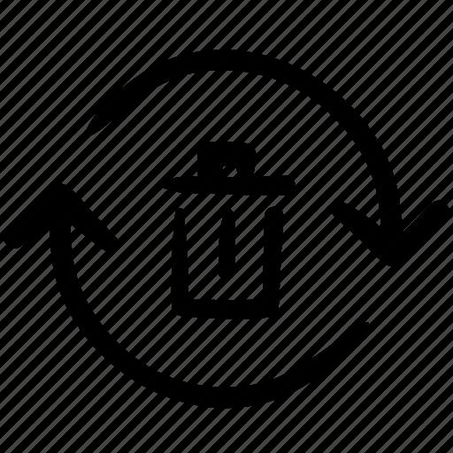 bin, doodle, finance, recycle bin, recycling bin, shop, trash icon