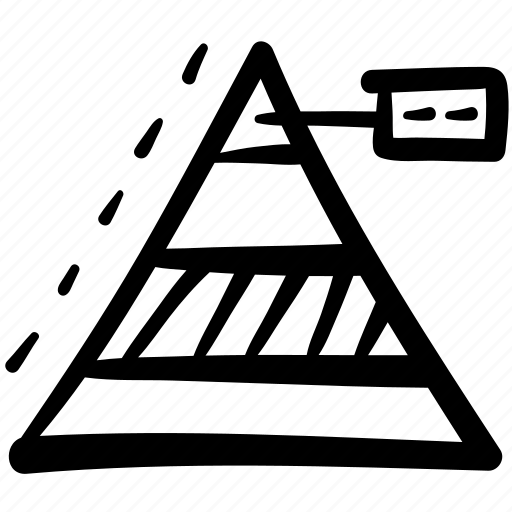 business, chart, doodle, finance, pyramid graph, statistics, triangle icon