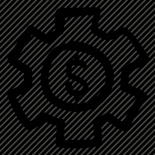 business, bussiness, doodle, finance, gear, mechanism, money settings icon