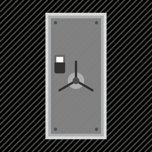 bank, deposit, door, lock, safe, security, steel icon