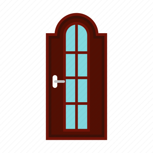 arched, architecture, collection, door, glass, interior, various icon