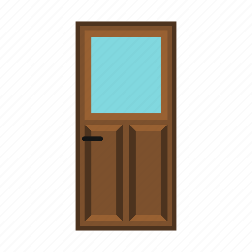 brown, door, home, house, office, wood, wooden icon