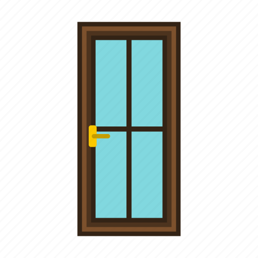door, entrance, front, home, interior, wood, wooden icon