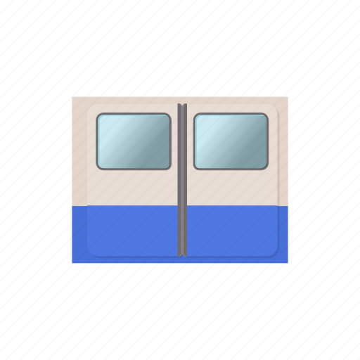 cartoon, door, railway, subway, train, transportation, underground icon