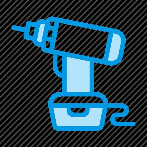 drill, repair, tool icon