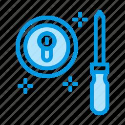 door, lock, locksmith, repair icon