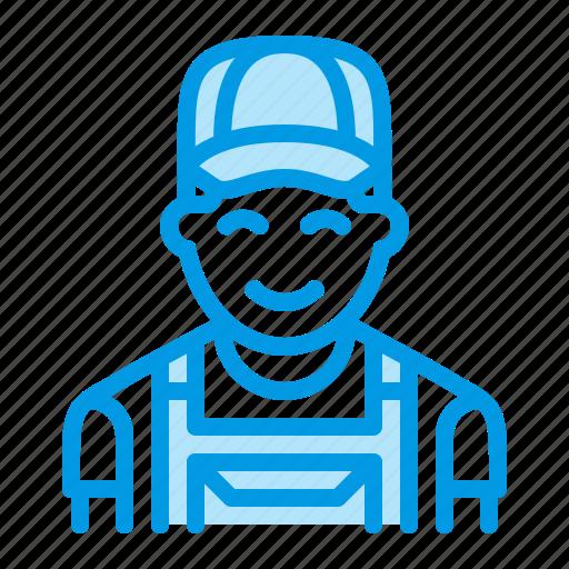 carpenter, handyman, locksmith, repairman, worker icon