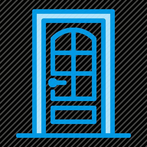 apartment, door, exterior, home icon