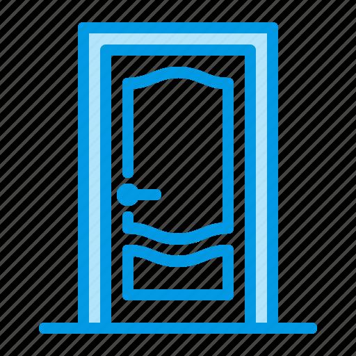 door, entrance, interior, wood icon