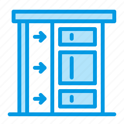door, interior, sliding icon