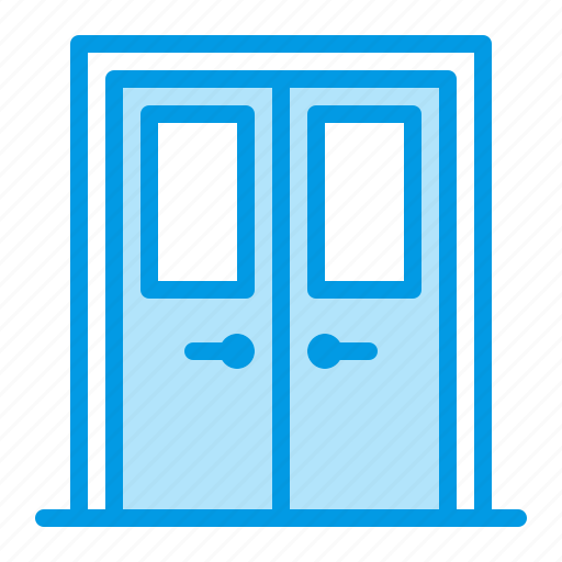 door, entrance, fireproof, technical icon