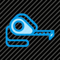 measuring, metre, tape, tool icon