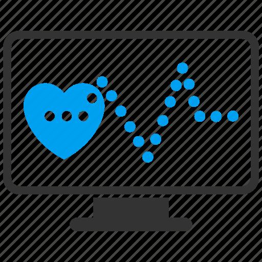 cardiogram, cardiology, diagnosis, ecg, heart pulse, heartbeat, monitor icon