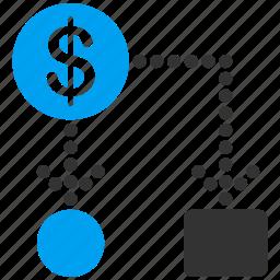 block, cashflow, financial, payments, payouts, scheme, transaction icon