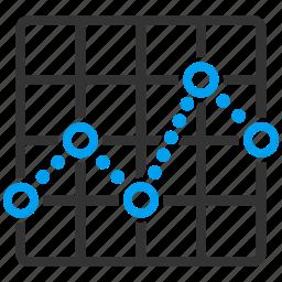 analysis, chart, diagram, function, graph, grid, plot icon