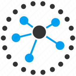 diagram, graph, links, nodes, relations icon