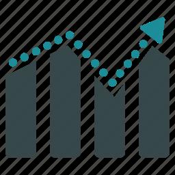analytics, bar, chart, diagram, graph, statistics, trend icon