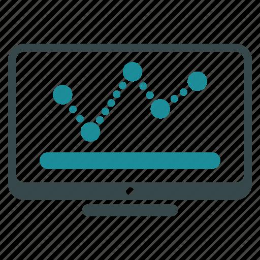 analytics, chart, diagram, graph, monitor, monitoring, statistics icon