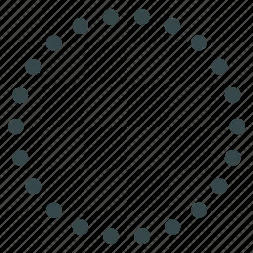 area, bubble, circular, dotted circle, region, sphere, zone icon