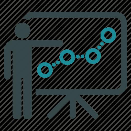 chart, diagram, graph, lecture, presentation, report, statistics icon