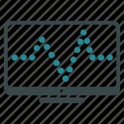chart, diagram, display, graph, monitoring, report, statistics icon