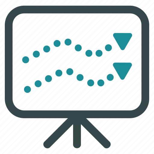 chart, diagram, presentation, report, screen, statistics, trends icon