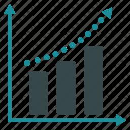 analytics, chart, diagram, graph, positive trend, report, statistics icon