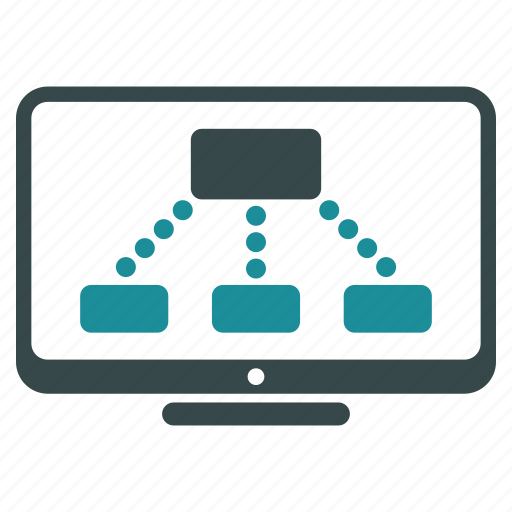 communication, company structure, connections, links, monitoring, relations, structure icon