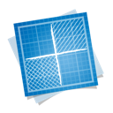 blueprint, delicious, social icon