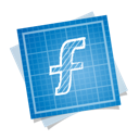 blueprint, f, social icon
